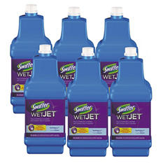 Swiffer WetJet System Cleaning-Solution Refill, Open Window Fresh Scent (1.25 L, 6 per carton)