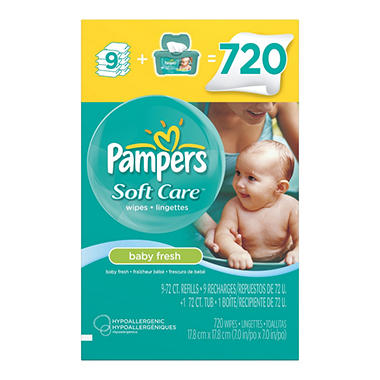 Pampers Baby Fresh Wipes - 720 ct.