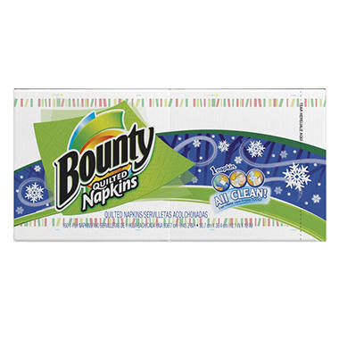 Bounty Quilted Napkins - Seasonal Print - 160 ct.