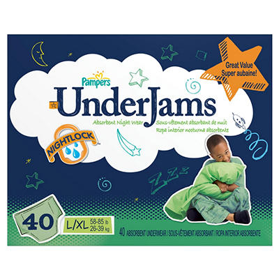 Pampers UnderJams Absorbent Night Wear (Choose Your Size)