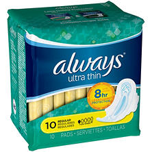 Always Ultra Thin Flexi-Wings Regular Pads (10 ct.)