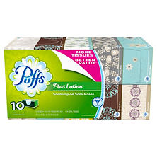 Puffs Plus with Lotion Facial Tissue (124 tissues, 10 ct.)