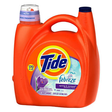 Tide Plus Febreze - 170 oz. (110 loads)