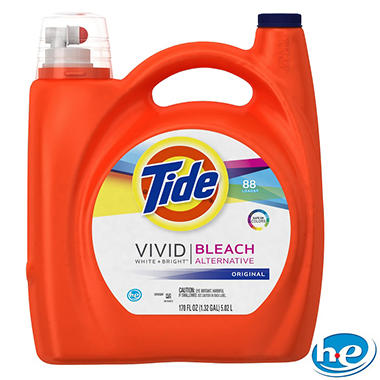 Tide HE plus Bleach Liquid Laundry Detergent - Original - 170 oz. - 88 Loads