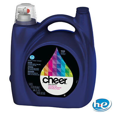 Cheer 2x HE Liquid Laundry Detergent - 170 oz. - 110 loads