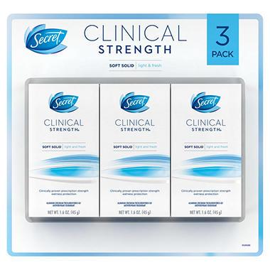 Secret Clinical Strength Advanced Solid Light and Fresh Deodorant - 3 / 1.6 oz.