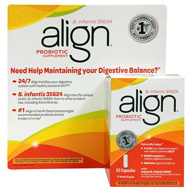 Align Probiotic Supplement - 63 ct.
