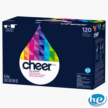 Cheer Ultra Fresh Clean HE Powder - 169 oz. - 120 loads