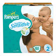 Pampers Swaddlers Sensitive Diapers, Size 2 (12-18 lbs.), 168 ct.