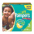 Pampers Baby Dry Diapers, Size 3 (16-28 lbs.), 222 ct.