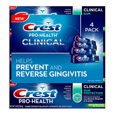 Crest Pro-Health Clinical Toothpaste - 4 ct. - 5.8 oz. ea.