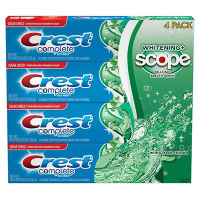 Crest Complete Whitening + Scope Toothpaste - 4 / 8 oz.