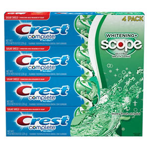 Crest Complete Whitening + Scope Toothpaste - 4 / 8 oz.