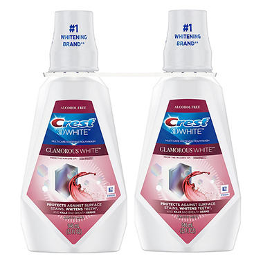 Crest 3D White Multi-Care Whitening Rinse Twin Pack - 32 oz. - 2 ct.