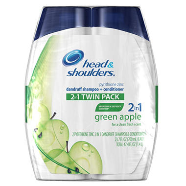 Head & Shoulders 2-in-1 Shampoo & Conditioner - 23.7 oz. - 2 pack