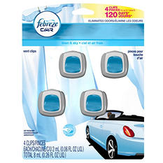 Febreze Car Vent Clips, Choose Your Scent (4pk.)