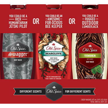 Old Spice - High Endurance Body Wash - Pure Sport - 18 fl oz. - 3 pk.