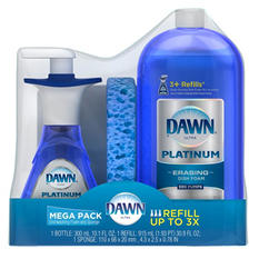 Dawn Ultra Platinum Dishwashing Foam Mega Pack