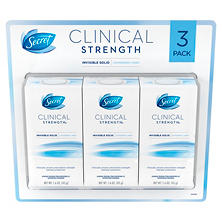 Secret Clinical Strength Invisible Solid Deodorant (1.6 oz., 3 pk.)