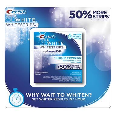 Crest 3D White Whitestrips - 1 Hour Express - 6 ct.