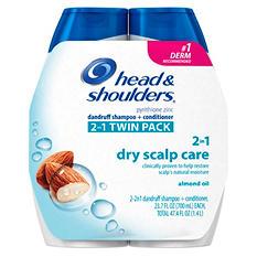 Head & Shoulders 2-in-1 Dandruff Shampoo & Conditioner (23.7 fl. oz., 2 pk.)
