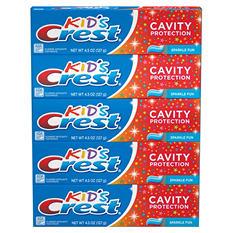 Crest Kid's Toothpaste, Sparkle Fun (4.5 oz., 5 pk.)