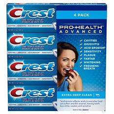 Crest ProHealth Advanced Toothpaste, Extra Deep Clean (5.1 oz., 4 pk.)