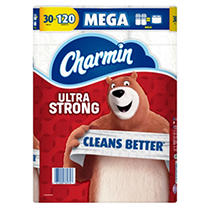 Charmin Ultra Strong Toilet Paper 30 Mega Roll, 286 sheets per roll