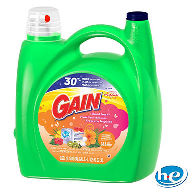 Gain HE Liquid Laundry Detergent, Island Fresh - 225 oz. - 146 loads