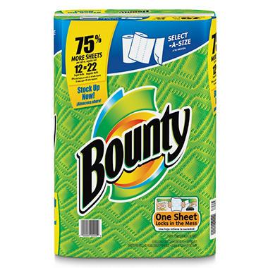 Bounty Select-a-Size Super Roll Paper Towels - 12 Rolls