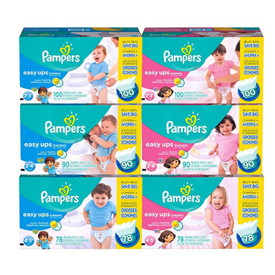 Pampers Easy Ups Trainers Training Pants Girls (Choose Your Size)