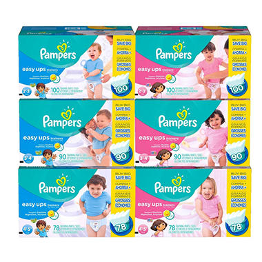 Pampers Easy Ups Trainers Training Pants, Boys (Choose Your Size)
