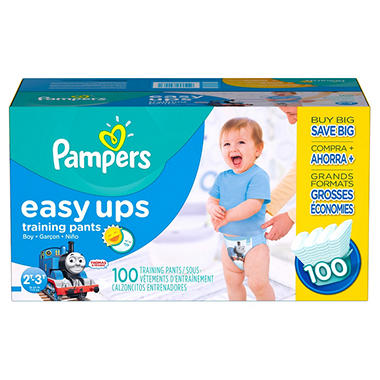 Pampers Easy Ups, Boys, Size 4, 2T-3T (16-34 lbs.), 100 ct.
