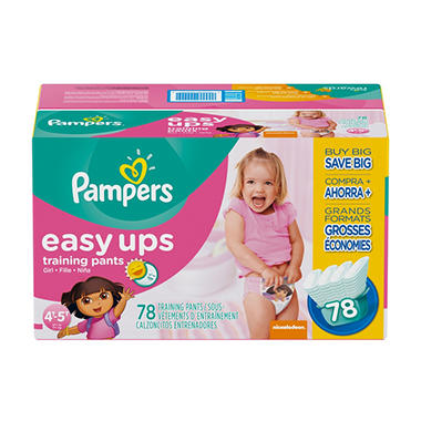 Pampers Easy Ups, Girls, Size 6, 4T-5T (37+ lbs.), 78 ct.