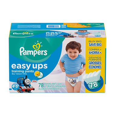 Pampers Easy Ups, Boys, Size 6, 4T-5T (37+ lbs.), 78 ct.