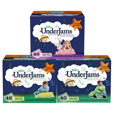 Pampers UnderJams Absorbent Night Wear Boys (Choose Your Size)