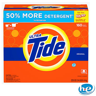 Ultra Tide HE Powder Laundry Detergent, Original - 225 oz. - 160 loads