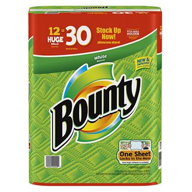 Bounty Huge Roll Paper Towels - 12 Rolls