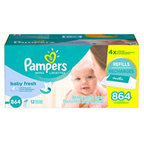 Pampers Baby Fresh Wipes 12x Pack, 864 ea