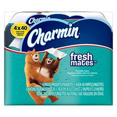 Charmin Freshmates Flushable Wet Wipes (4pk., 40ct. refills)