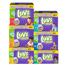 Luvs Ultra Leakguard Diapers, Size 3 (16-28 lbs.), 186 ct.
