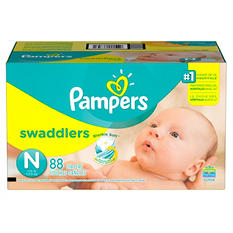 Pampers Swaddlers Diapers, Newborn (88 ct.)