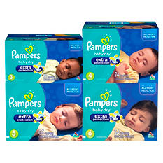 Pampers Baby Dry Extra Protection Diapers (Choose Your Size)