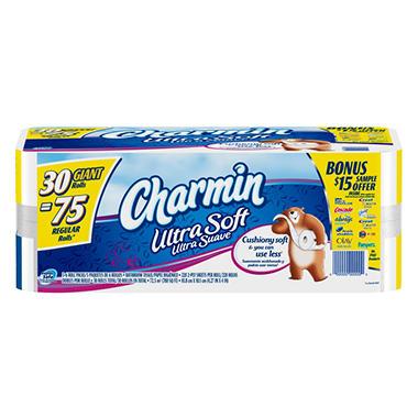 Charmin Ultra Soft Toilet Paper - Giant Rolls - 30 pk.