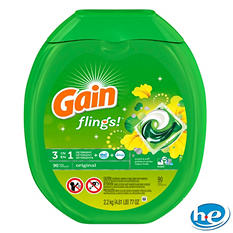 Gain Flings Original 3-in-1 Laundry Pac - 90 ct.