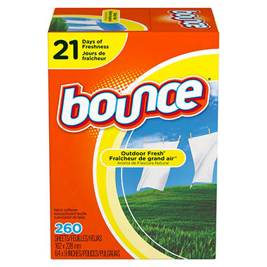 Bounce Outdoor Fresh Dryer Sheets (260 ct.)