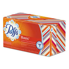 Puffs White Facial Tissue, 1-Ply, 180 Sheets -  24/Carton