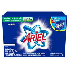 Ariel Clasico Powder Laundry Detergent, Mountain Spring (128 loads, 4 61-oz. bags)