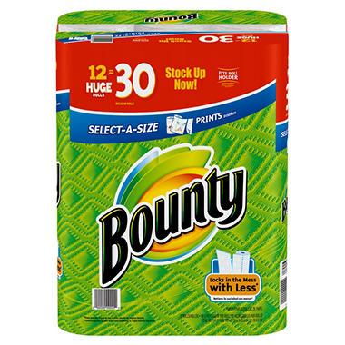 Bounty Select-A-Size Prints Paper Towels (12 Rolls)