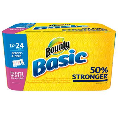 Bounty Basics Select-A-Size Paper Towels (12 Rolls)